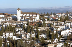 Granada City, Spain. The medieval Moorish quarter El Albaicin in the city of Granada. Andalucia, Spain Stock Photography