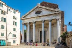Church San Nicolo da Tolentino in Venice Stock Photos