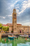 Church of San Nicolo', Lazise, Lake Garda, Italy Stock Image