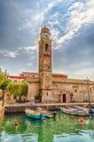 Church of San Nicolo', Lazise, Lake Garda, Italy Stock Image