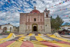 Church of San Pablo in Mitla an archeological site in the state royalty free stock photography