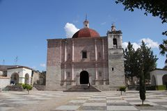 Church of San Pablo Villa de Mitla, Mexico Royalty Free Stock Images