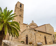Church San Paolo in Olbia. OLBIA,ITALY - SEPTEMBER 21,2014 - Church San Paolo in Olbia.The building is located high in the city center and was built on the ruins Stock Photography