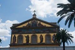 Church San Paolo. Rome italy San Paolo church Stock Image