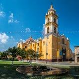 Church of San Pedro Apostol at Cholula Main Square - Cholula, Puebla, Mexico Stock Images