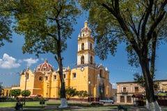 Church of San Pedro Apostol at Cholula Main Square - Cholula, Puebla, Mexico Stock Photography