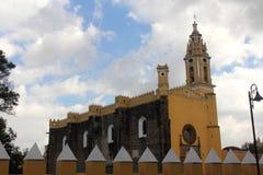San Pedro Church in Cholula, Puebla, Mexico Stock Photos