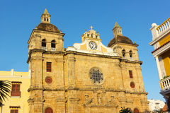 Church San Pedro Clover of Old Town Colonial Quarter in Cartagena, Colombia. Stock Image