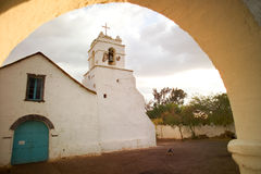 Church of San Pedro de Atacama. In the Atacama desert, Chile Stock Photos