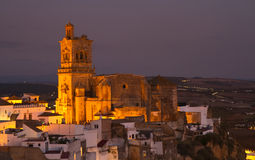 Church of San Pedro at night Royalty Free Stock Photography