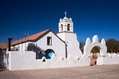 Church of San Pedro, San Pedro de Atacama, Chile Royalty Free Stock Photo
