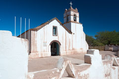 Church of San Pedro, San Pedro de Atacama, Chile Stock Photos