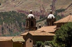 Church in San Pedro village at Raqchi, Peru royalty free stock photos