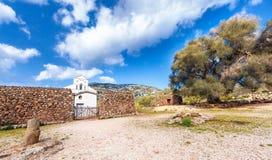 Chiesa di San Pierto al Golgo, Sardegna. Church of San Pierto al Golgo, Sardegna royalty free stock images