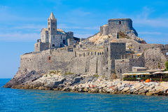 Church of San Pietro above the promontory of Porto Venere Royalty Free Stock Photos