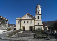 Church of Agerola stock photography