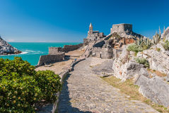 The church of San Pietro in the promontory of Portovenere Royalty Free Stock Photo
