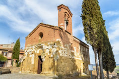 Church of San Pietro, San Giovanni d`Asso, tuscany, italy Royalty Free Stock Image
