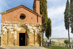 Church of San Pietro in San Giovanni d`Asso, tuscany, italy Royalty Free Stock Image