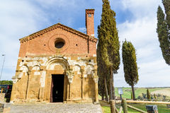 Church of San Pietro in San Giovanni d`Asso, tuscany, italy Stock Images