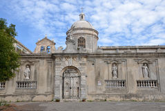 The church of San Pietro in Vico del Gargano Stock Images