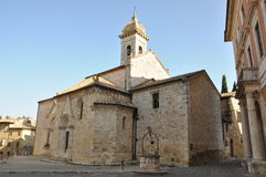 Church in San Quirico d'Orcia, Tuscany Royalty Free Stock Photography