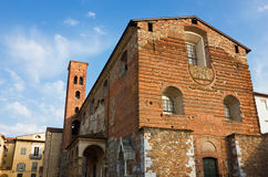 The Church of San Romano facade in Lucca, Italy Stock Images