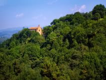 Church of San Roque in Pagasarri mountain in Bilbao Stock Images
