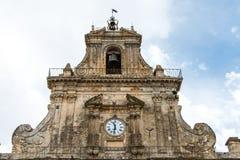 Church of San Sebastiano in Palazzolo Acreide, Siracusa, Sicily, Royalty Free Stock Photography