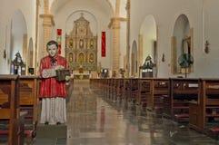 Church of San Servacio Saint Servatius in Valladolid, Yucatan. Valladolid, Mexico - October 25, 2016 : Interior of Church of San Servacio  Saint Servatius in Stock Image