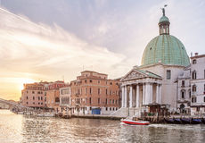 Church San Simeone Piccolo on embankment of Canal Grande Royalty Free Stock Photography