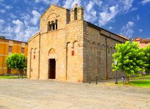 Church of San Simplicio in Olbia Royalty Free Stock Image