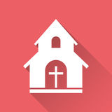 Church sanctuary vector illustration icon. Royalty Free Stock Images