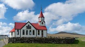 The church in sandavagur on the Faroe Island of Vagar
