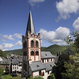 Church of Sankt Peter in Bacharach royalty free stock images