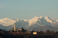 The church of Sant Abbondio at Gentilino Stock Photography