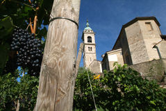 The church of Sant Abbondio at Gentilino Royalty Free Stock Images