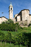The church of Sant Abbondio at Gentilino Stock Image