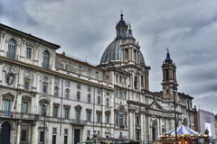 Church Sant'Agnese in Piazza Navona Stock Photography