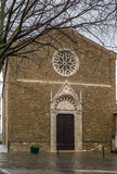 Church of Sant Agostino, Montalcino, Italy Royalty Free Stock Images