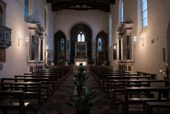 The Church of Sant `Agostino in San Gimignano is one of the most stock photography
