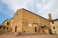 Church Sant Agostino in San Gimignano, Tuscany, Italy Royalty Free Stock Photos