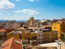 The church of Sant`Anna in Cagliari in Sardinia royalty free stock photo