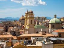 The church of Sant`Anna in Cagliari in Sardinia stock image