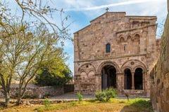 Church Sant Antioco di Bisarcio near Ozieri Stock Image