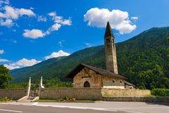 Church of Sant'Antonio Abate - Pelugo Trento Italy Royalty Free Stock Photos