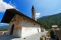 Church of Sant'Antonio Abate - Pelugo Trento Italy Stock Photo