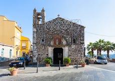 Church Sant Antonio Abate in Taormina city Stock Image