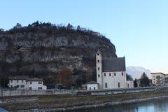 Church of Sant'Apollinare, Trento, Italy. Church of Sant' Apollinare in Trento, Italy. Popular touristic european destination. Trento city view Stock Images