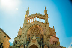 The church of Sant Bartomeu, Saint Bartholomew, in Soller Royalty Free Stock Photo